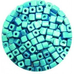 perles métal turquoise