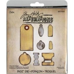 dies tags tim holtz scrapbooking
