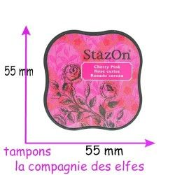 stazon encre rose cherry pink