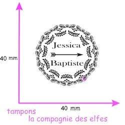 tampon mariage flèche | tampon en ligne mariage | wedding stamp