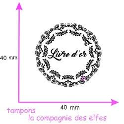 Tampon livre d'or | tampon mariage livre or | tampon bois mariage