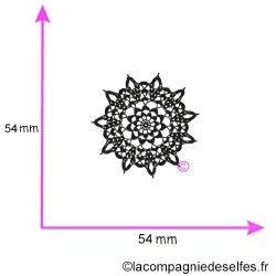 Tampon napperon dentelle | spitze stempel | encaje sello de goma | lace shabby stamp