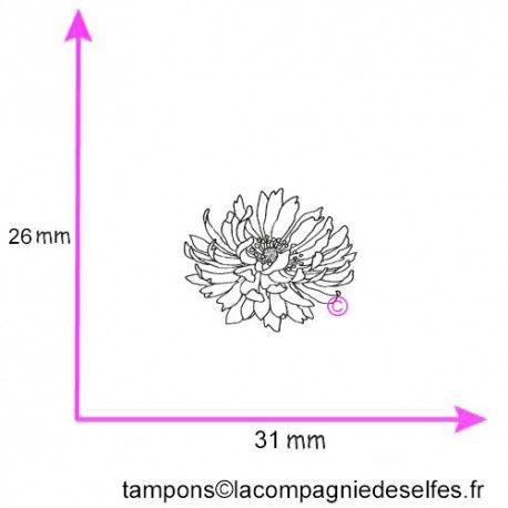 Tampon fleur MARIGOLD petit modèle non monté