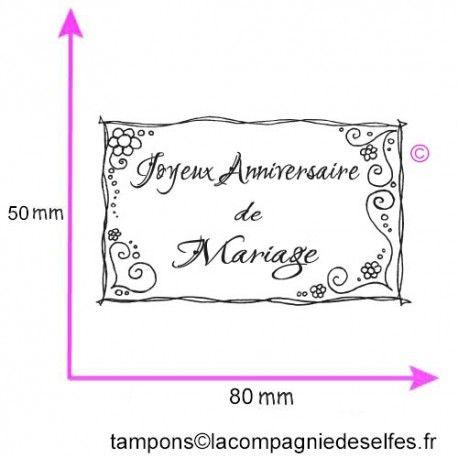 Joyeux Anniversaire De Mariage Tampon Nm