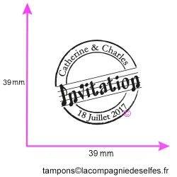 Tampon encreur invitation | tampon invitation mariage
