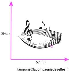 tampon invitation mariage | tampon mariage musique | musical wedding stamp