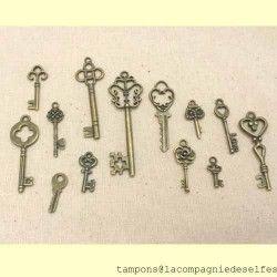 LOT DE 13 clés métal
