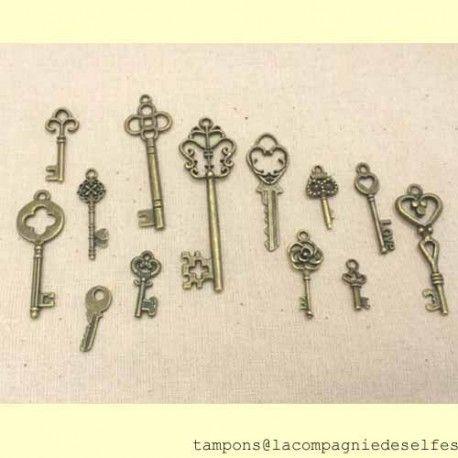 clé métal | breloque clé