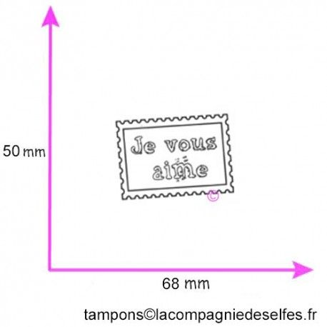 TiMbre je vous aime tampon nm