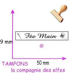 Tampon bois fée main | tampon scrap fée main | tampon bois couture