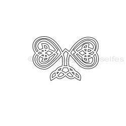 Tampon scrapbooking coeurs celtes