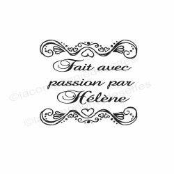 Fait avec passion | tampon fait passion | tampon personnalisé fait main