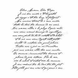 lettre à mes parents tampon (bois)