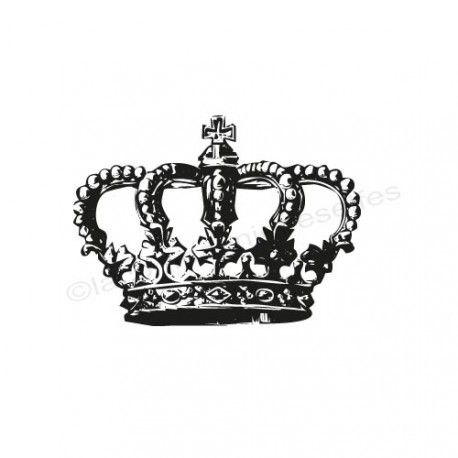 Timbre couronne | crown rubber stamp