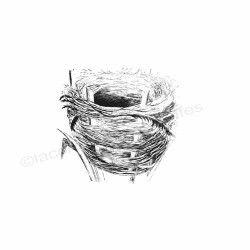 nid de pâques | tampon scrapbooking pâques