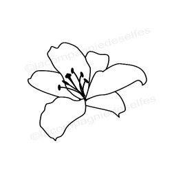 Tampon fleur pistils