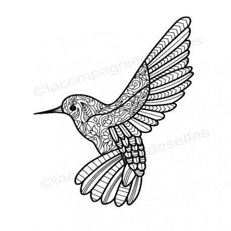 hummingbird stamp| texture fimo | polymer clay stamp