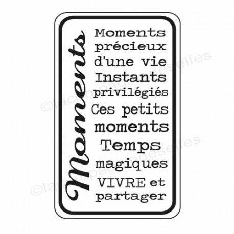 Sketch carte ou page XoXo. Tampon-bois-moments