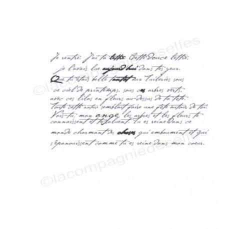 Sketch carte un petit mot. Texte-vintage-tampon-nm