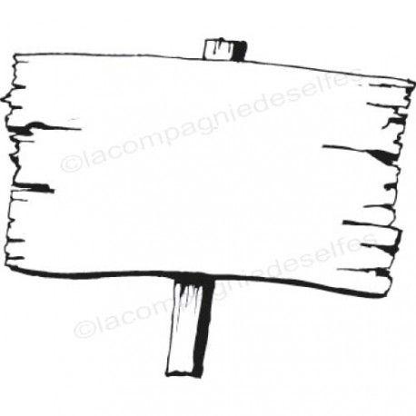 Sketch carte un petit mot. Pancarte-panneau-bois-tampon-nm