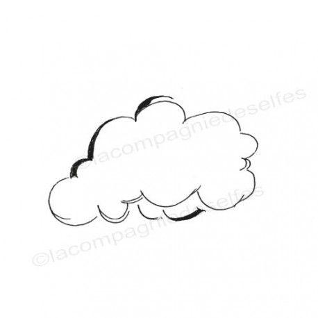 nube sello de goma | wolke stempel