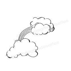 tampon scrapbooking nuage arc enciel