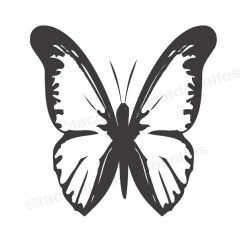 mariposa sello de goma | schmetterling stempel