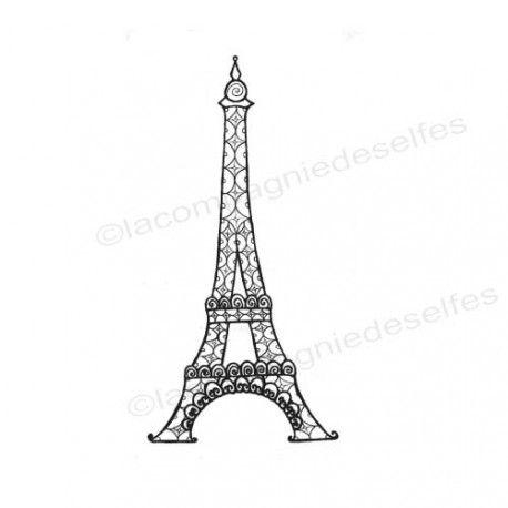eiffel tower stamp | eiffelturm stempel
