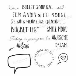 tampon pour bullet journal | tampon bucket list | tampon awesome