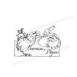 tampon encreur pâques | tampon scrapbooking pâques
