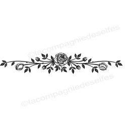 grand tampon frise | tampon frise rose | rose stamp | rose stempel
