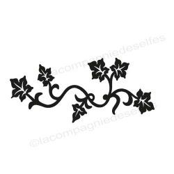 tampon frise fleur | tampon scrapbooking fleur