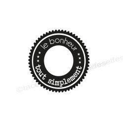 hapiness rubber stamp | tampon scrapbooking bonheur