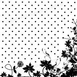 tampon pois et fleurs - non monté