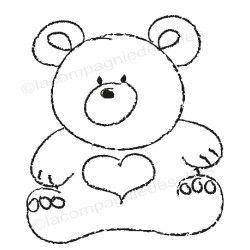 l'ours de Pati tampon nm