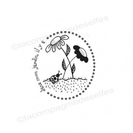 tampon jardin | tampon buccolique |tampon fleurs | botanic stamp | botanic stempel