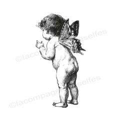 Tampon ange vintage | tampon encreur ange | angel stamp | timbre ange