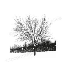 Tampon arbre neige | snow stamp | winter stamp