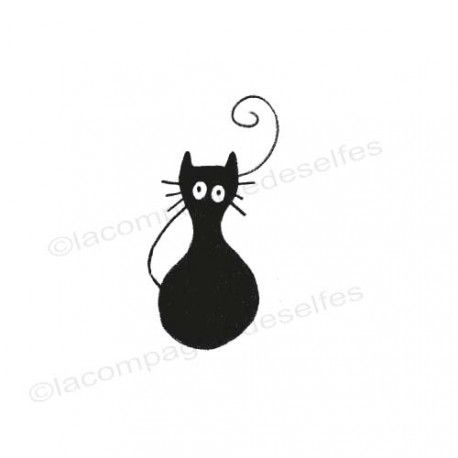 tampon chat rigolo | funny cat rubber stamp