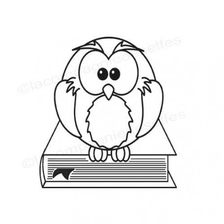 tampon encreur chouette | owl rubber stamp |eule stempelkissen