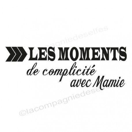 Moments de complicité avec Mamie - tampon nm