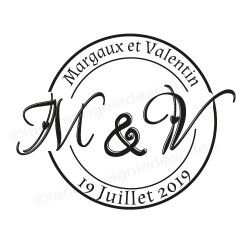 initial stamp | tampon mariage initiale