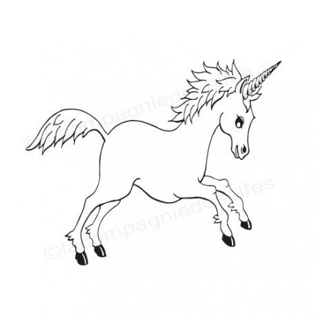 unicorn wooden stamp   tampon scrapbooking licorne