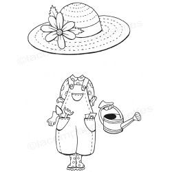 tampon jardin | garden stamp | doll stamp