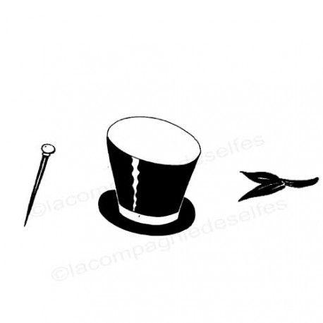 bridegroom stamp | tampon chapeau marié