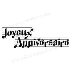 joyeux anniversaire | tampon anniversaire musique