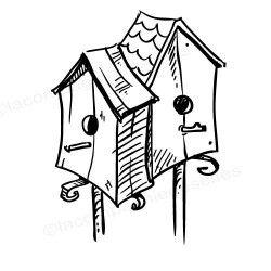 nesting box stamp | tampon nichoir scrapbooking | tampon encreur nichoir