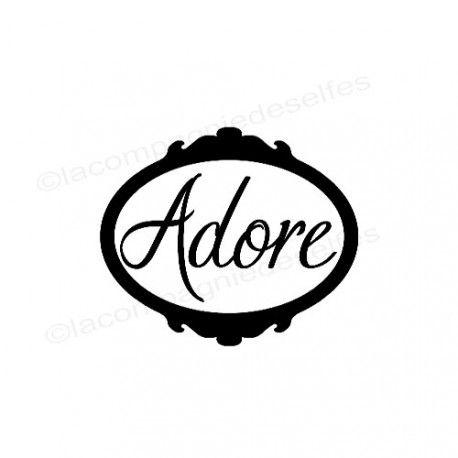 Adore stempel | adore stamp | tampon encreur adore