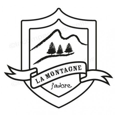 mountain rubberstamp | berg tintenstempel | tampon sport hiver