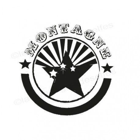 mountain stamp | montagna timbro | sello de goma